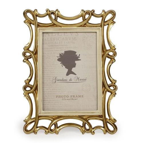 Portafoto intreccio oro Linea Paola 10x15