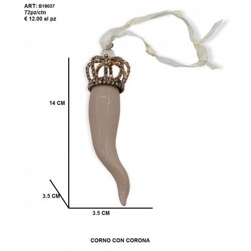 Corno con corona tortora
