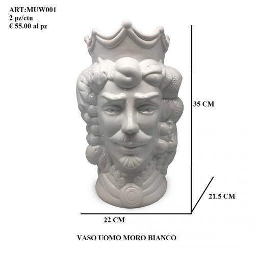 Vaso Uomo Moro bianco