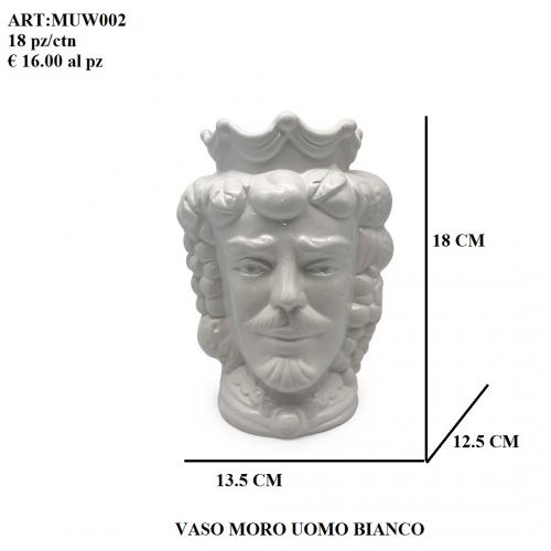 Vaso Uomo Moro bianco 002