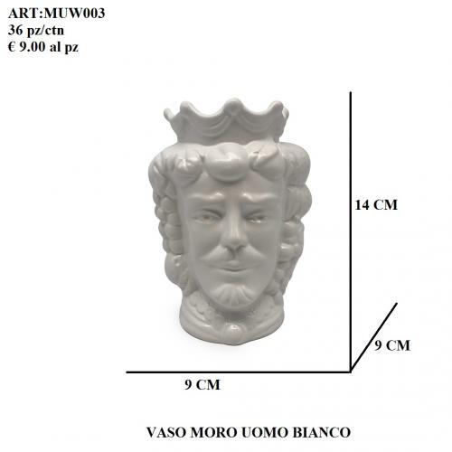 Vaso Uomo Moro bianco 003