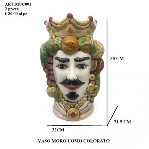 Vaso Uomo Moro colorato 001