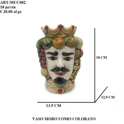 Vaso Uomo Moro colorato 002