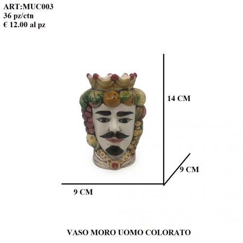 Vaso Uomo Moro colorato 003