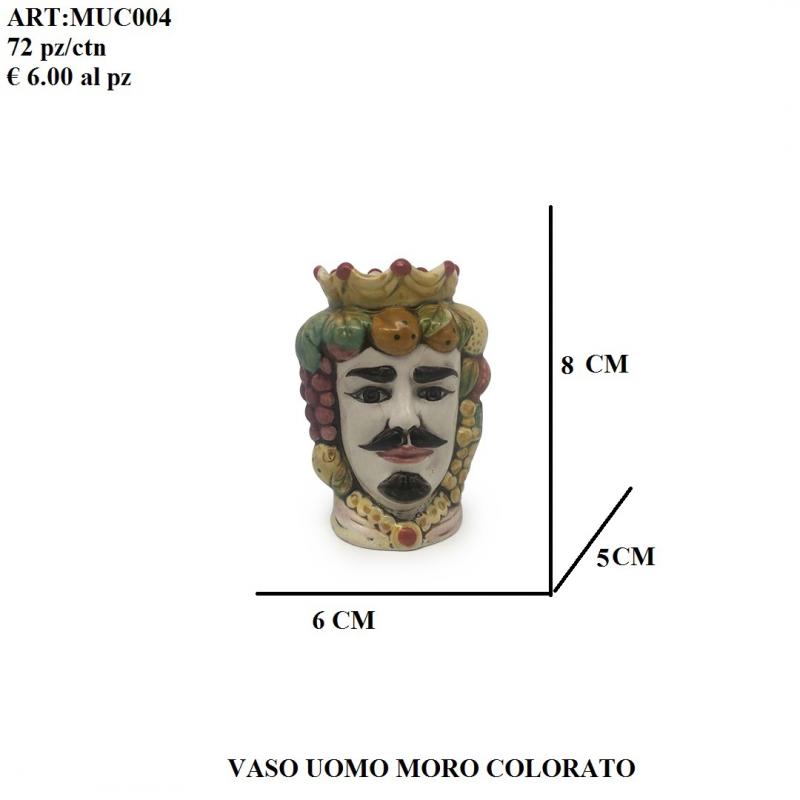 Vaso Uomo Moro colorato 004