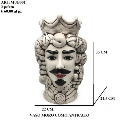 Vaso Uomo Moro anticato 001