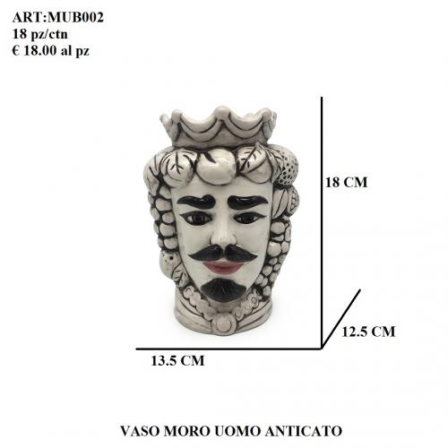 Vaso Uomo Moro anticato 002