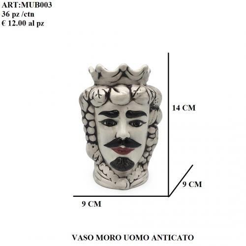 Vaso Uomo Moro anticato 003