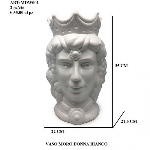Vaso Moro Donna bianco 001