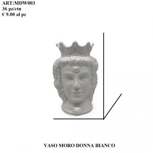 Vaso Moro Donna bianco 003