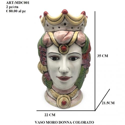 Vaso Moro Donna colorato 001