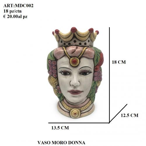 Vaso Moro Donna colorato 002