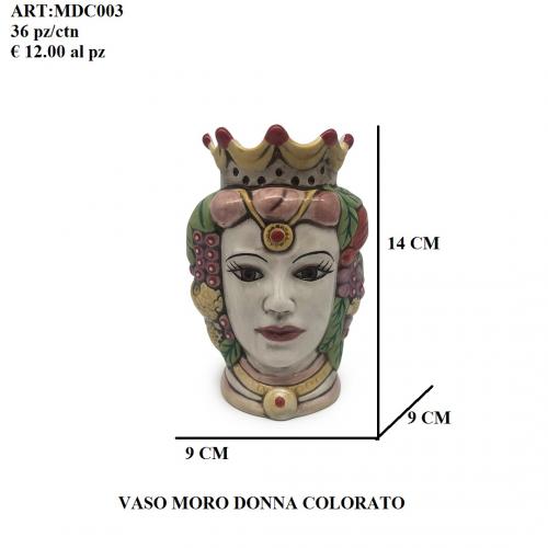Vaso Moro Donna colorato 003