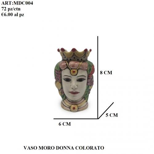 Vaso Moro Donna colorato 004