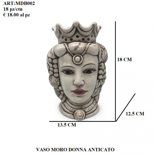 Vaso Moro Donna anticato 002