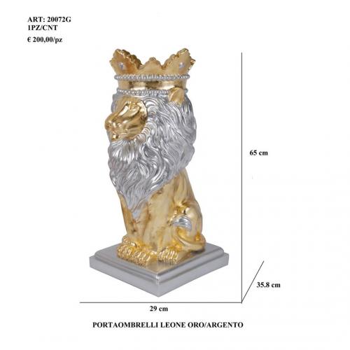 Portaombrelli Leone oro/argento