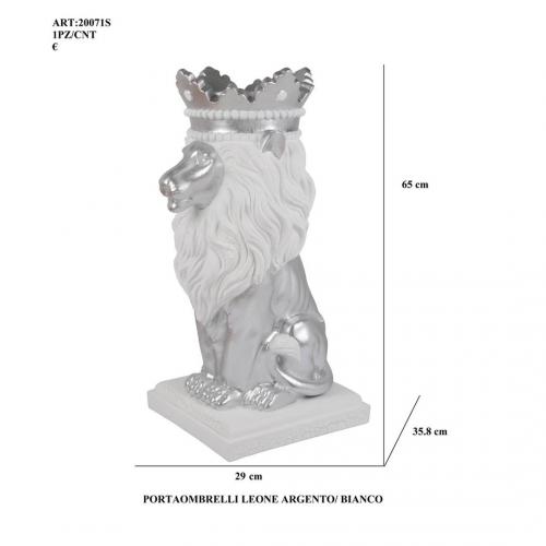 Portaombrelli Leone argento/bianco