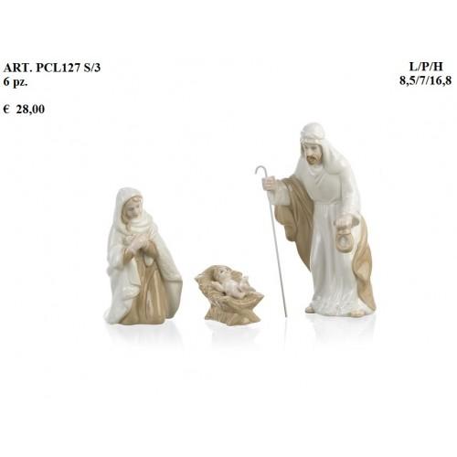 NATIVITA' S/3 16,8 CM. C/SCATOLA